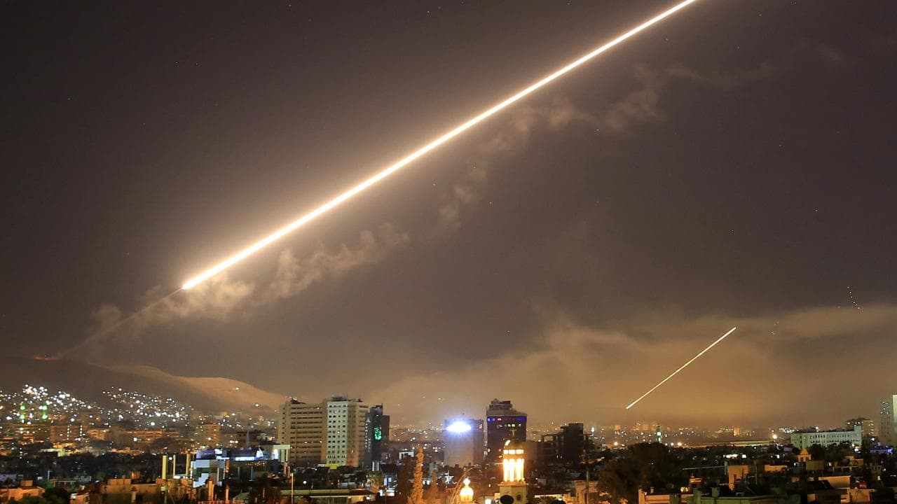 syria missile bombing